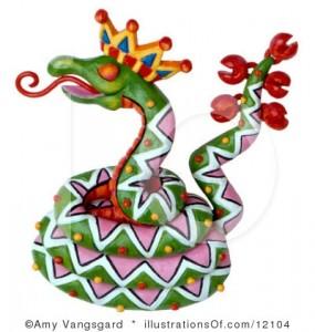 открытки картинки новый год 2013 год змеи